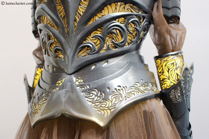 Epic Medieval Inspired 3D Printed Womens Sovereign Armor