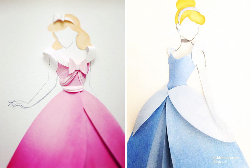 Disney Art Made From Layers Of Paper