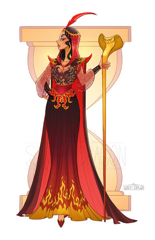 Disney Villain Gown Designs
