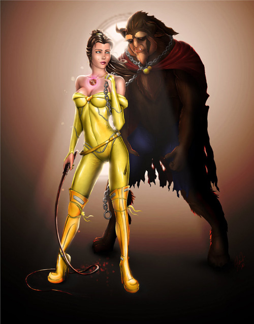 Disney vs Marvel Ladies Sexy Fan Art