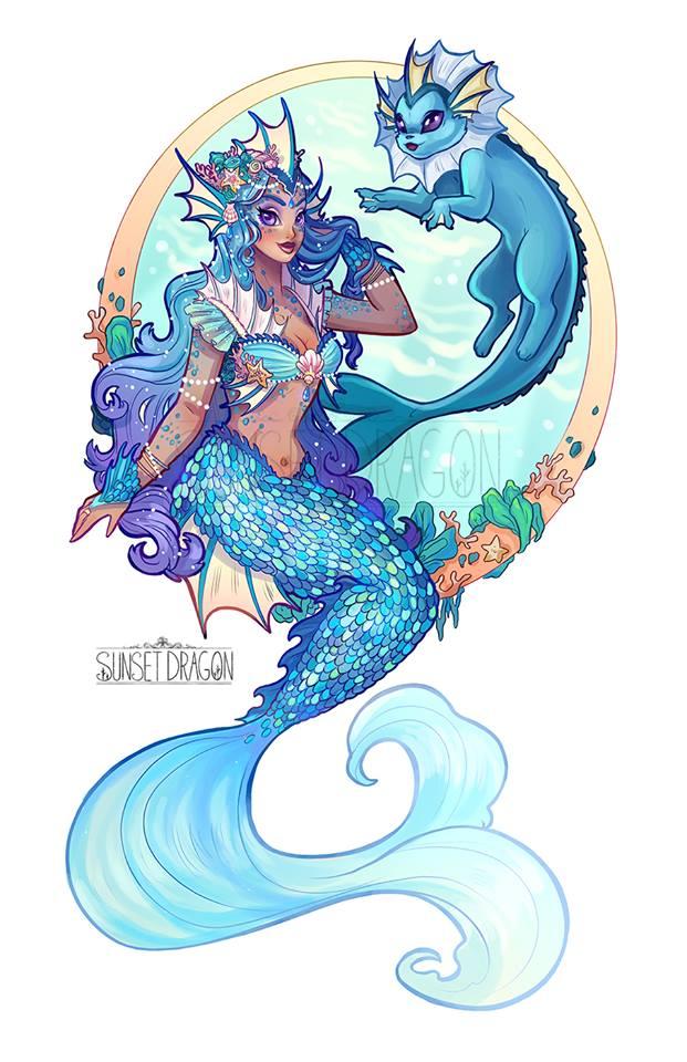 Eevee x Mermaids Fan Art