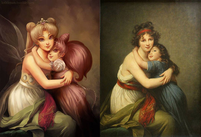 Classic Paintings Reimagined for Geek Fandoms
