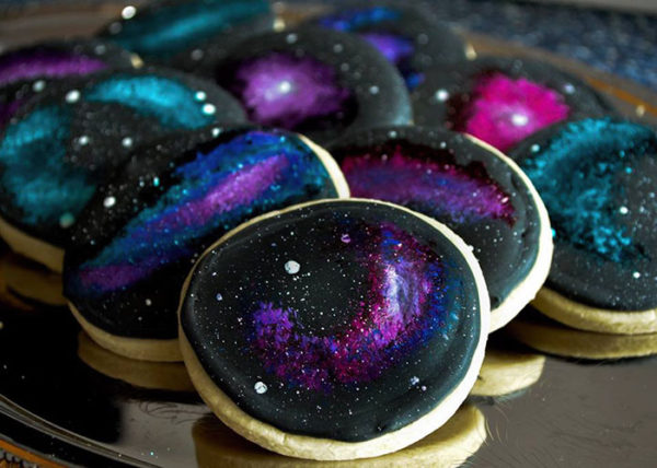 Space Wedding Cake Cupcakes & Cookies