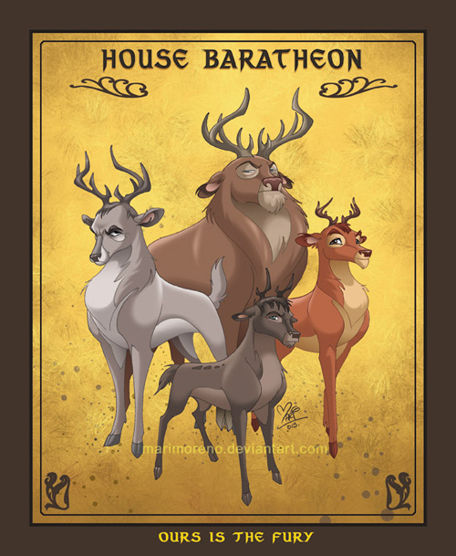 Game of Thrones Houses as Disney Animals
