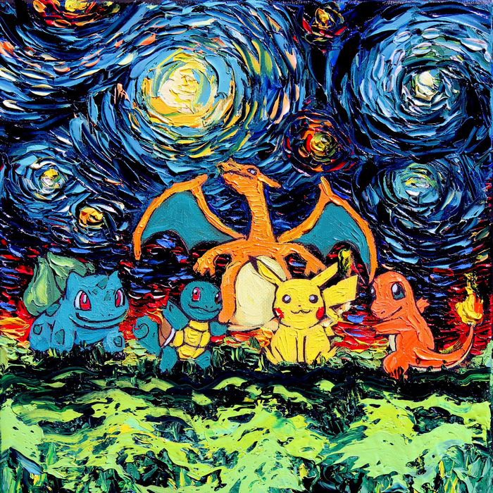 Geeky Fandom Versions of Starry Night