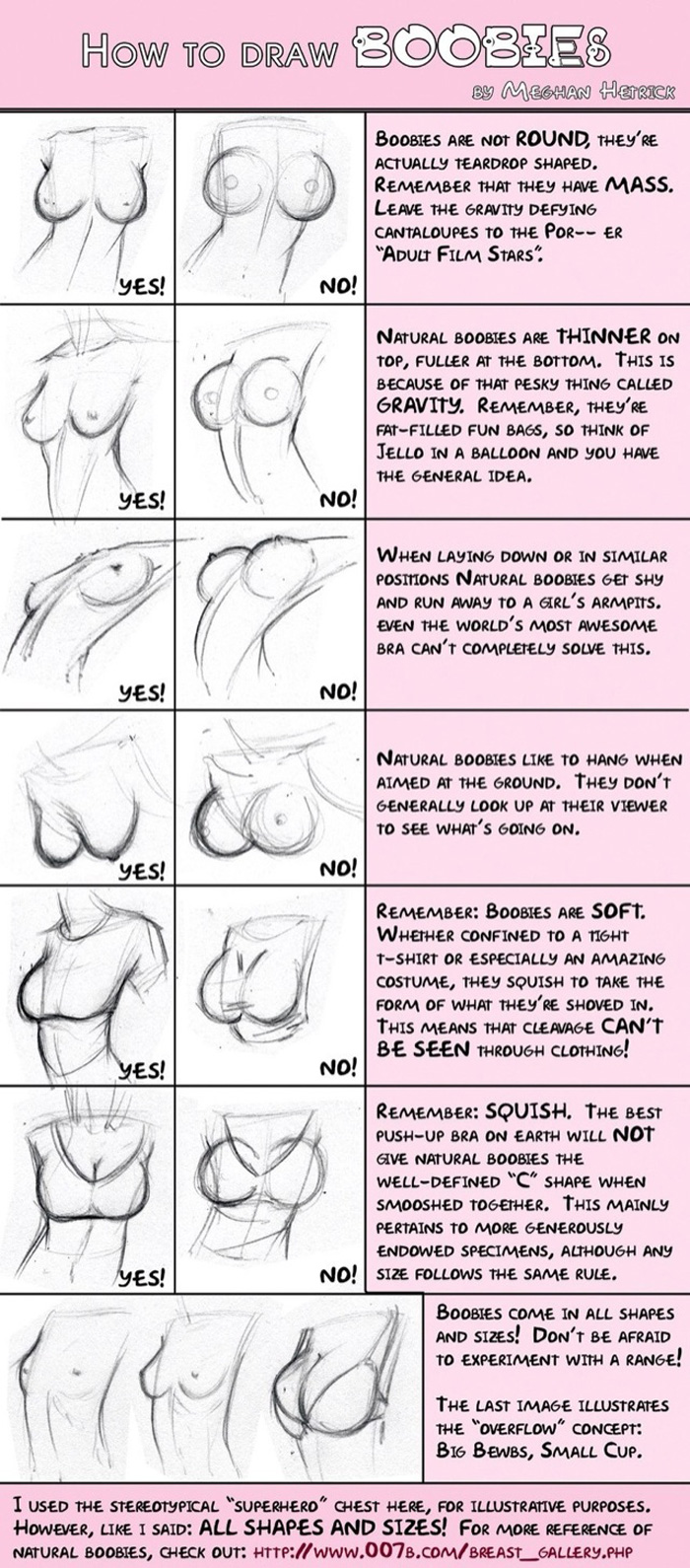 How to Draw Realistic Boobies