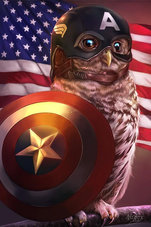 Avengers as Owls Fan Art