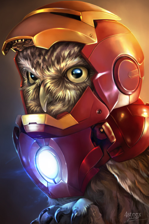 Avengers As Owls Fan Art
