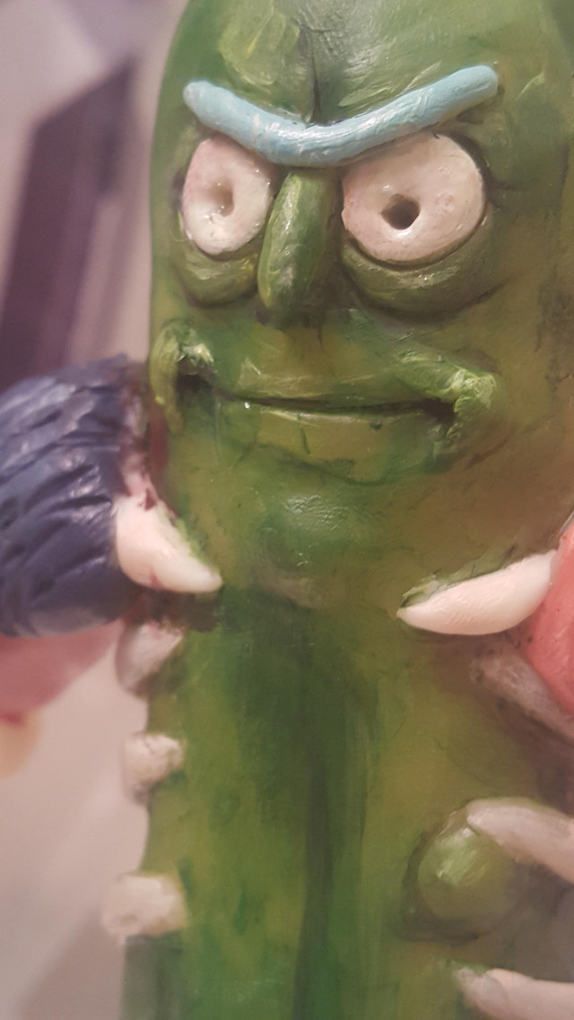 Couple Made a Life-Size Pickle Rick from Rick and Morty