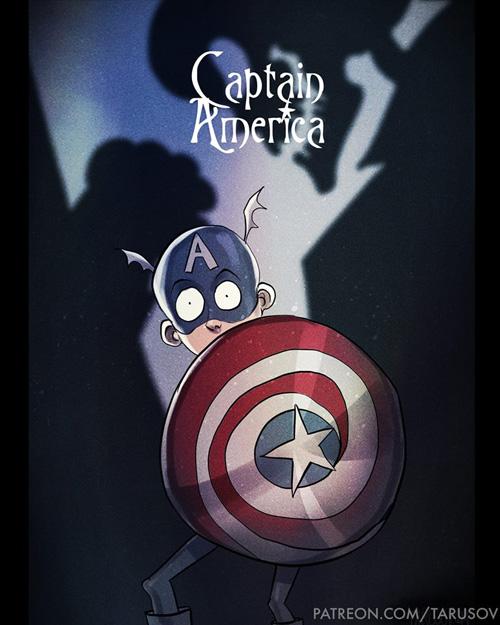 Superheroes in Tim Burtons Style