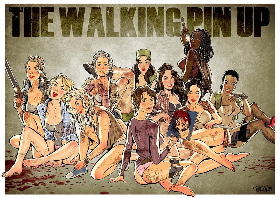 Sexy Ladies of The Walking Dead Pinups