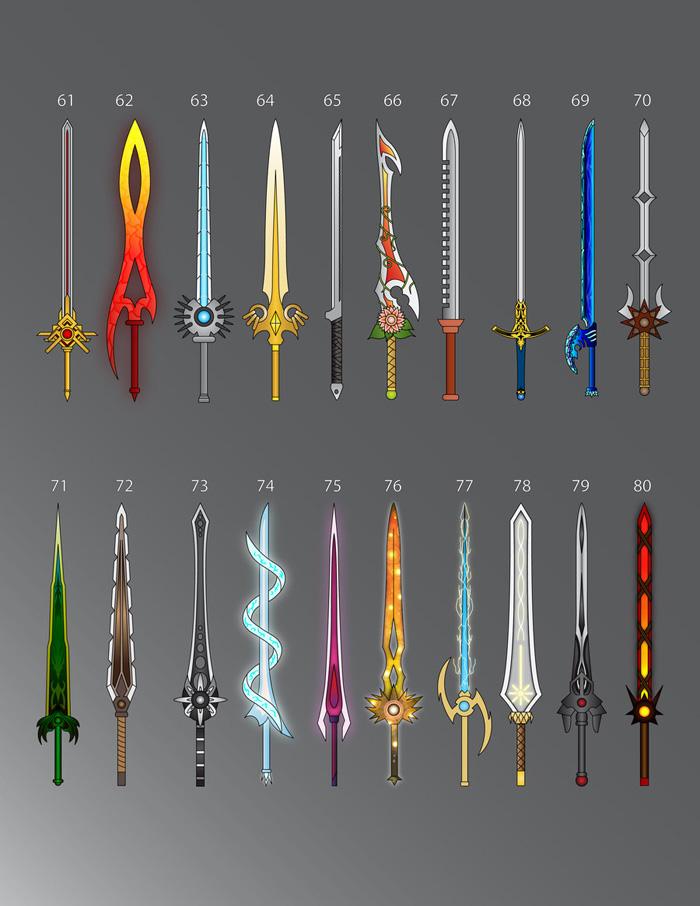 100 Fantasy Swords