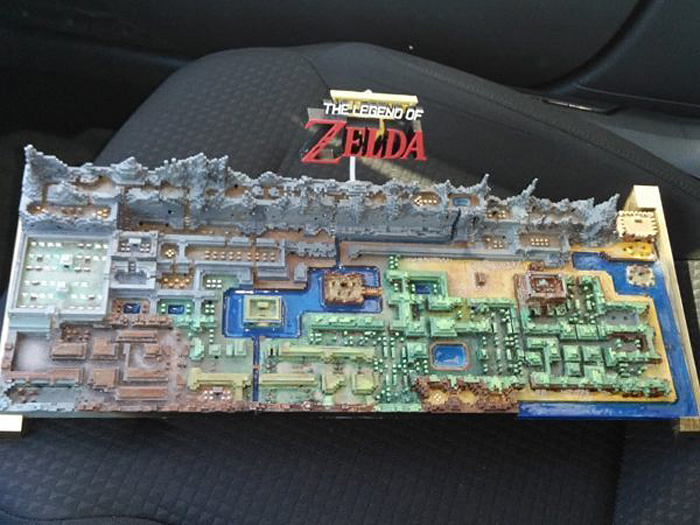 3D Printed Original Legend of Zelda Map