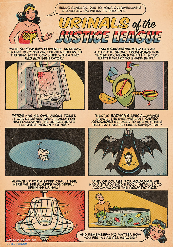 Urinals of the Justice League