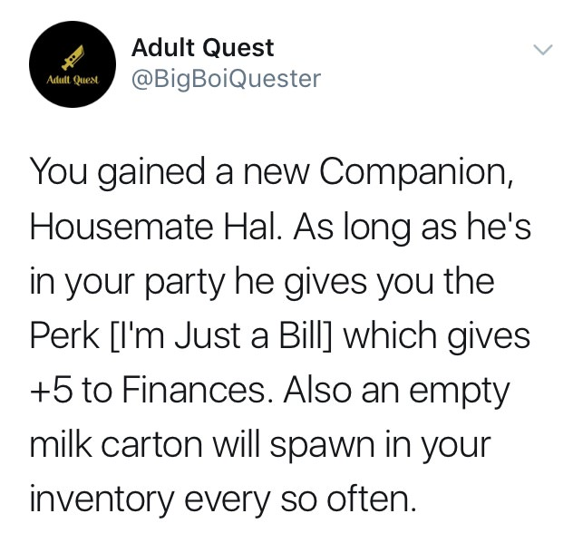 Adult Quest: An RPG of Adulthood