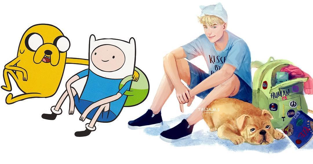Modern Adventure Time Fan Art Redesigns
