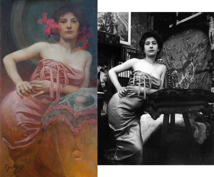 Alphonse Mucha Art & Model Comparisons