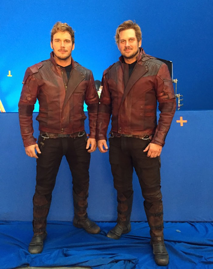 Avengers With Their Stunt Doubles