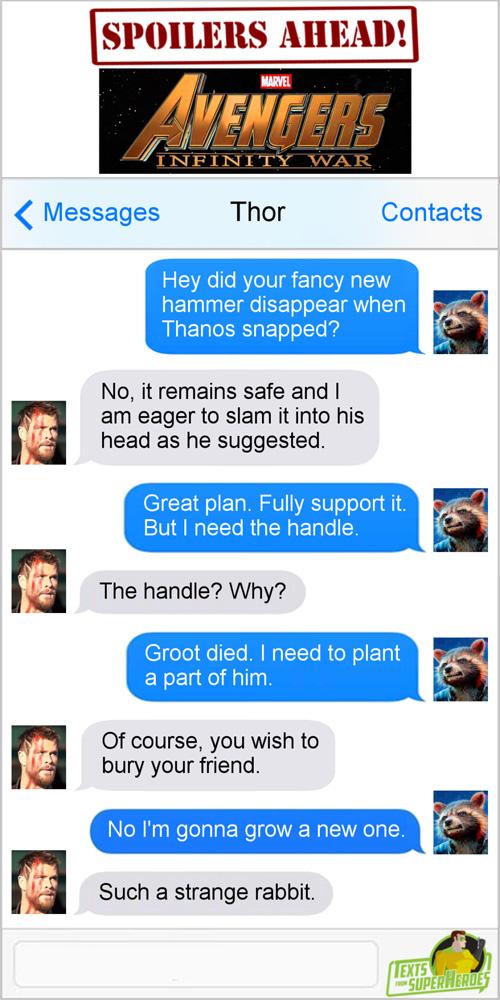 Avengers: Infinity War Texts