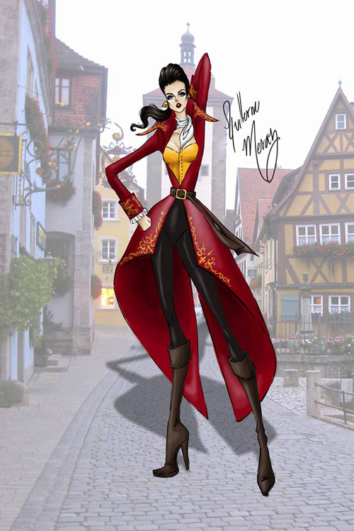 Beauty and the Beast Fashion Designs