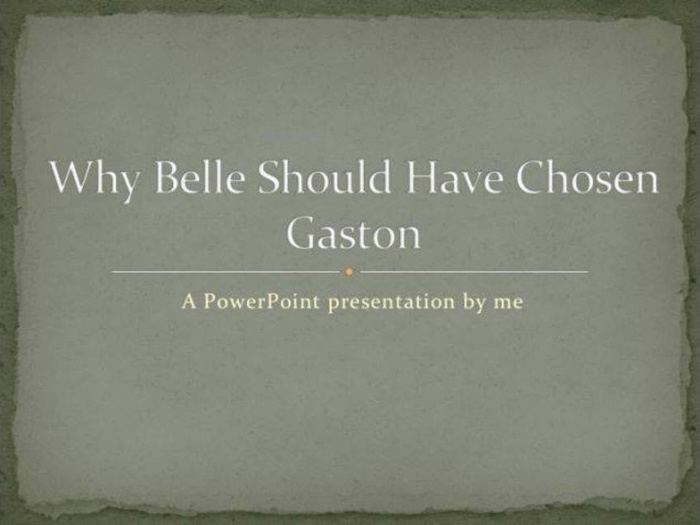 Why Belle Should Have Chosen Gaston