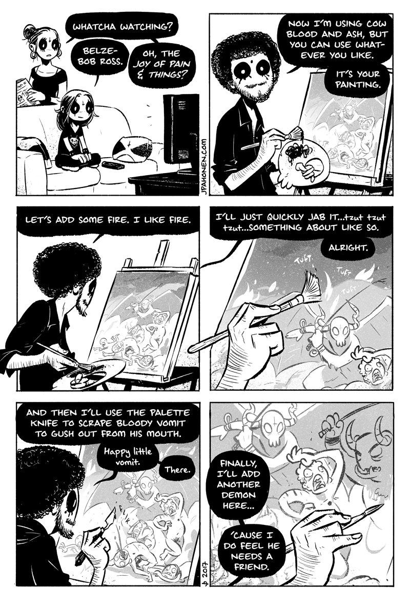 Belze-Bob Ross Comic