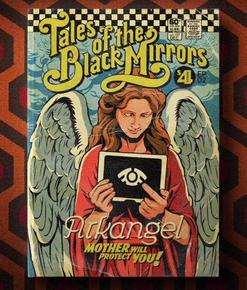 Black Mirror Season 4 as Pulp Comic Book Covers