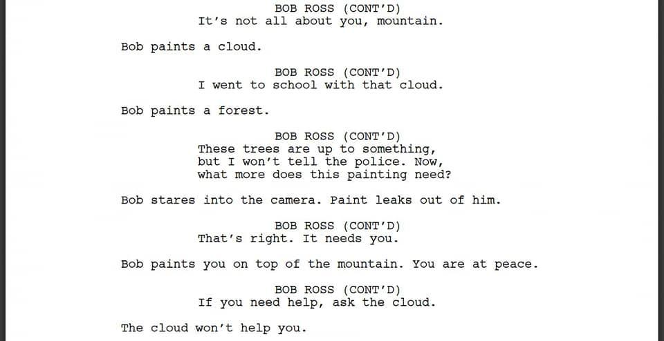 Bot Writes a Bob Ross Video