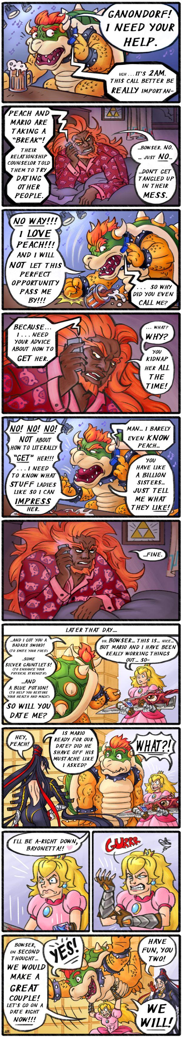 Bowser Calls Ganondorf - Comic