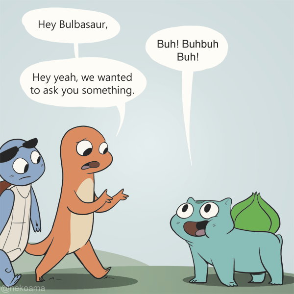 Bulbasaur in Fall Comic
