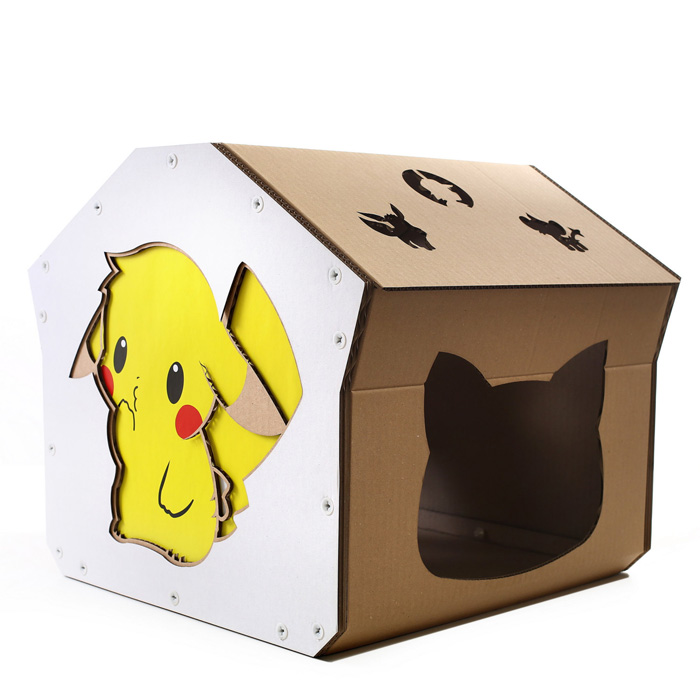 Geeky Cardboard Cat Houses