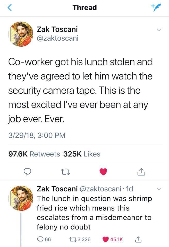 The Saga of the Stolen Lunch