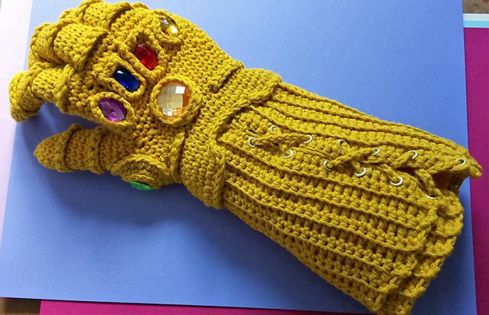 Crocheted Infinity Gauntlet