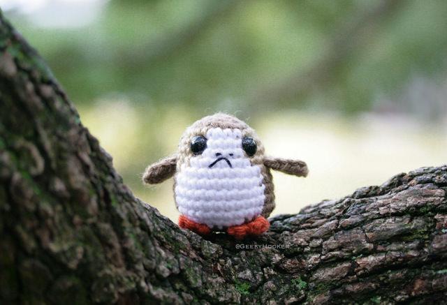 Crocheted Porg