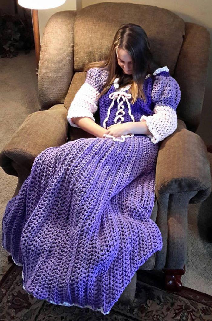 Crocheted Princess Dress Blankets