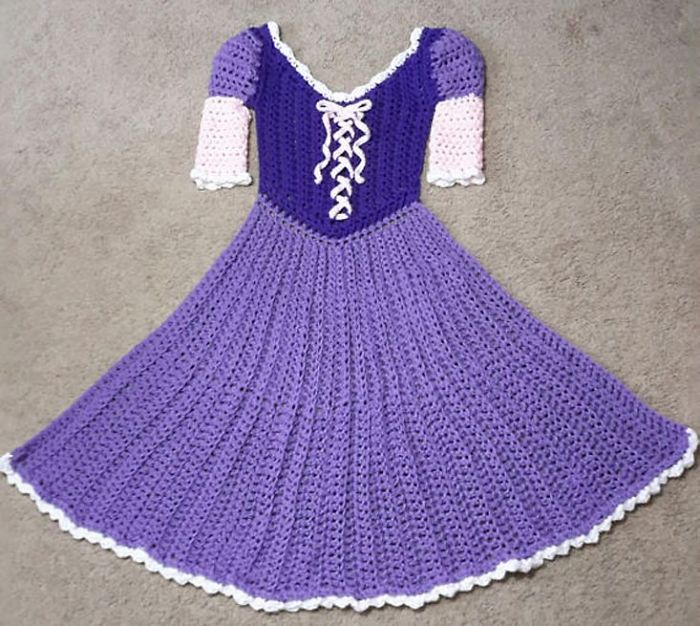 Crocheted Princess Dress Blankets