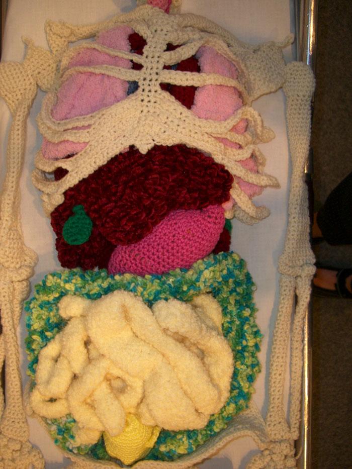 Life-Size Crochet Skeleton