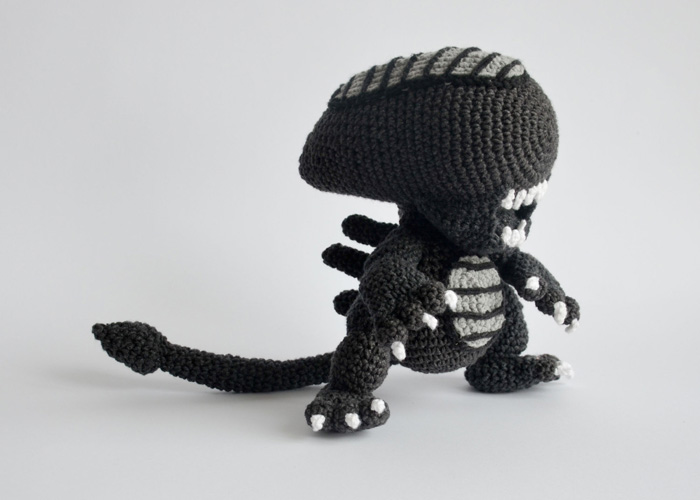 Crocheted Xenomorph Alien