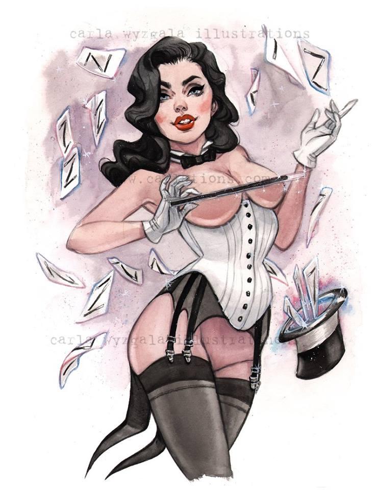 Burlesque DC Ladies Pinups