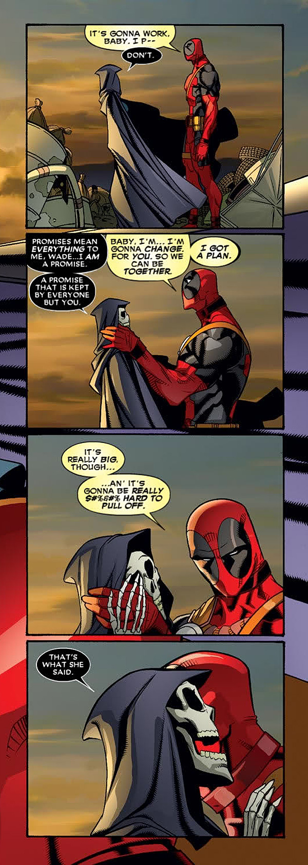 Deadpool and Lady Death Comic