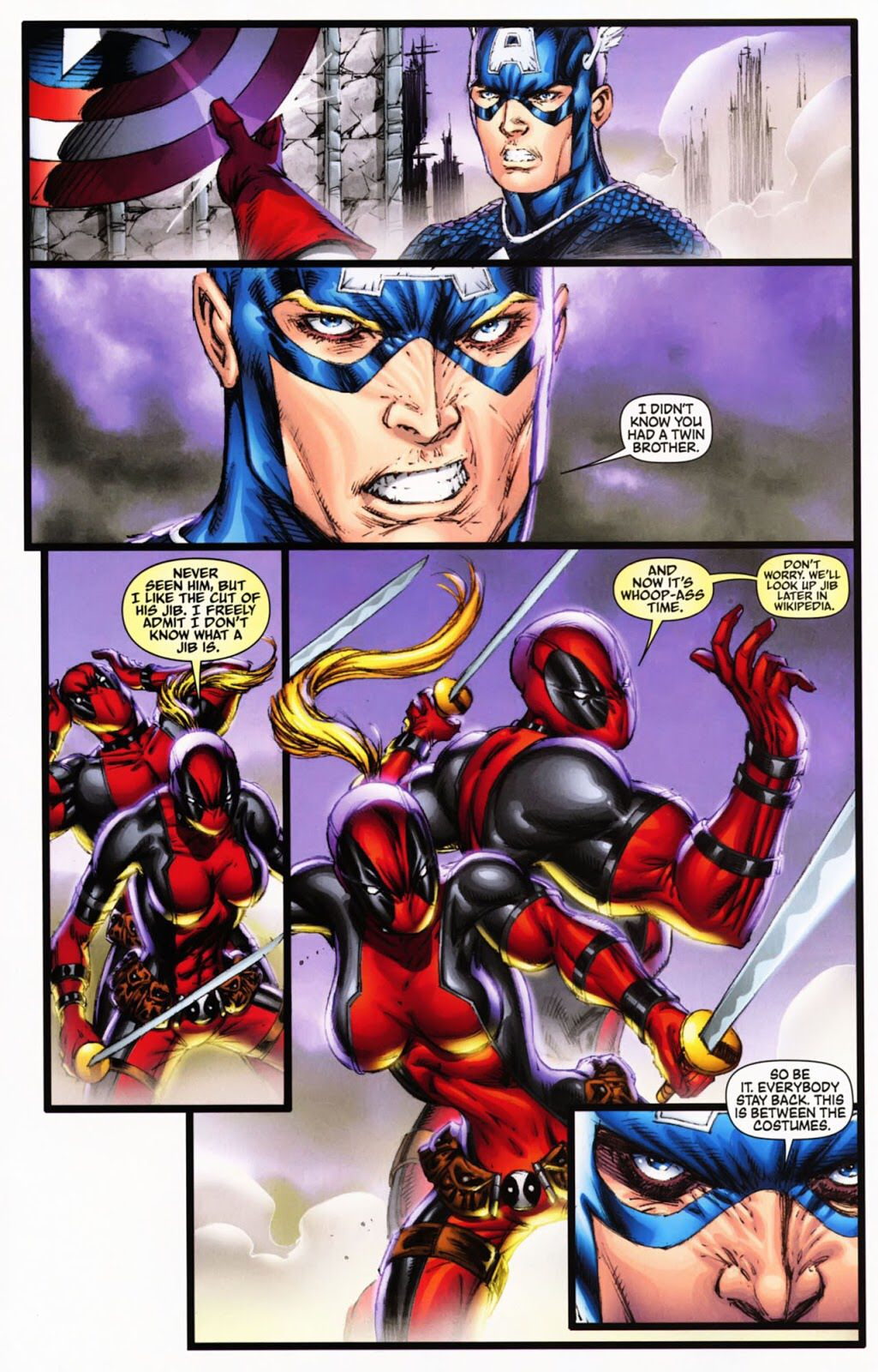 Deadpool & Lady Deadpool Comic