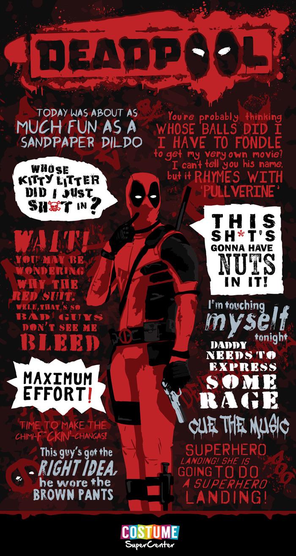 Deadpool Quotable Infographic