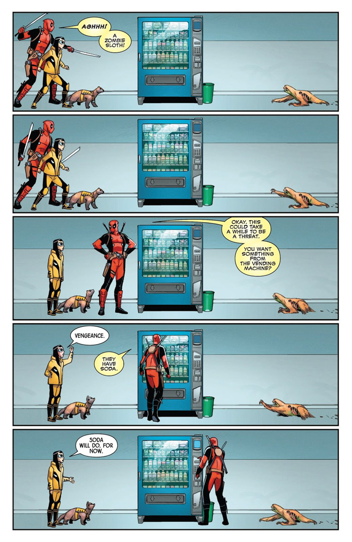 Deadpool & Honey Badger vs a Zombie Sloth