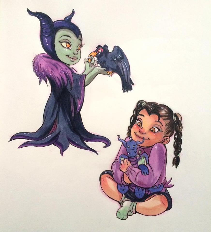 Disney Characters as Kids Fan Art
