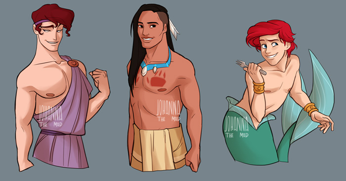 Disney Genderswap Fan Art