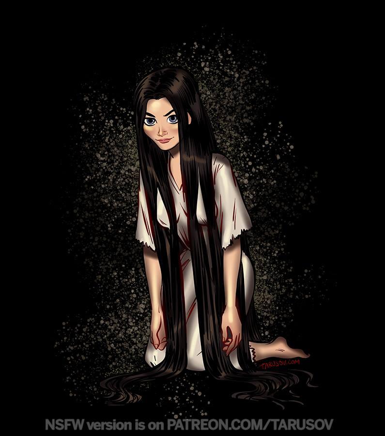 Disney Princesses as Horror Icons