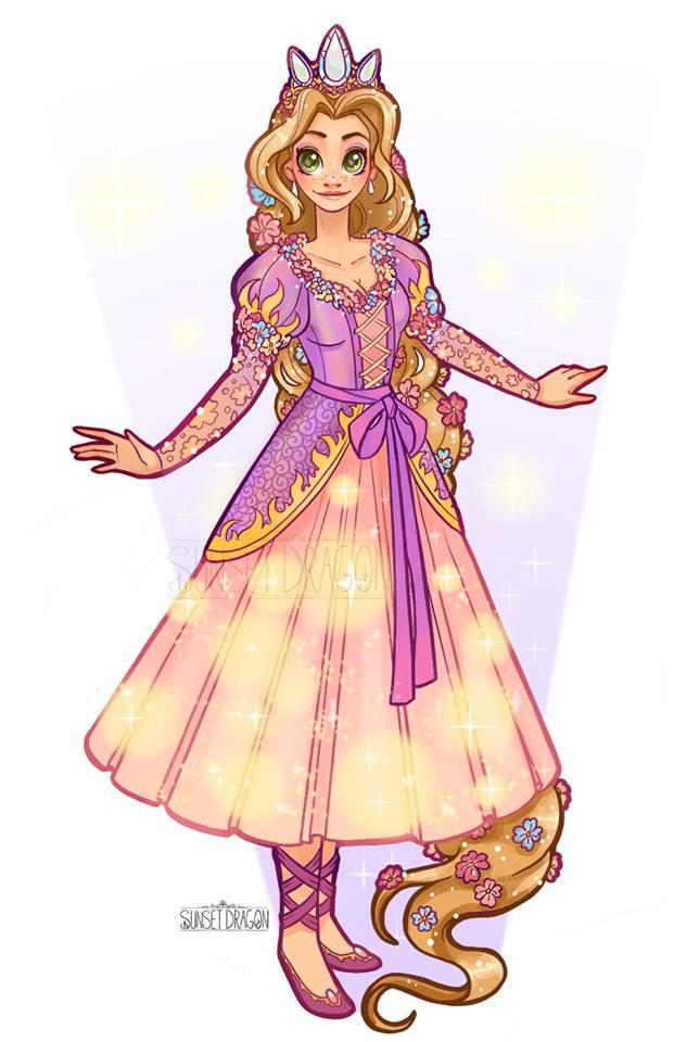 Disney Princess Fan Art Gown Designs