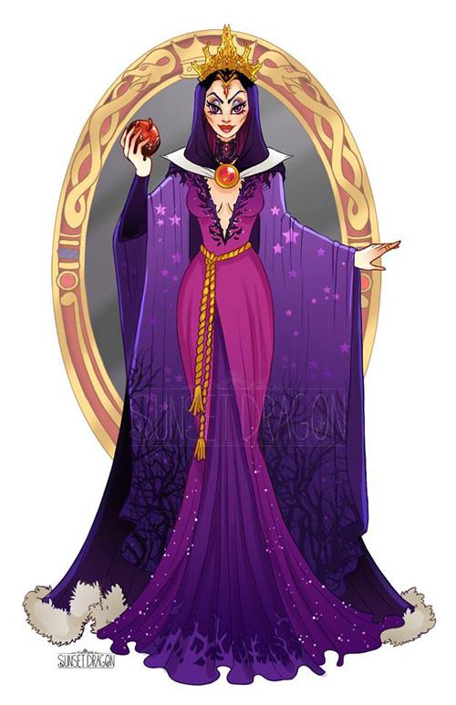 Disney Villain Gown Designs
