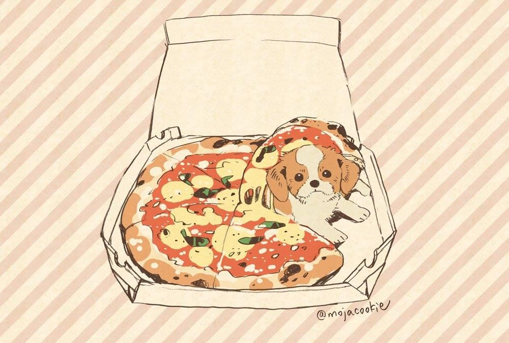 Kawaii Dogs And Food Art