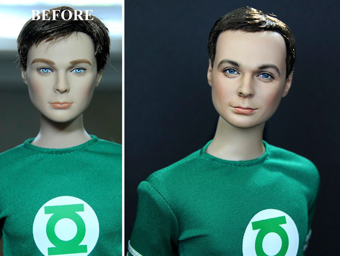 Artist Repaints Mass-Produced Dolls to Look Realistic